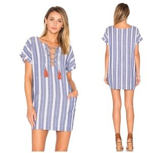 Tularosa Warren Tunic Dress Striped Tassel XS